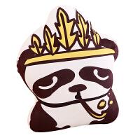 简笔画动物抱枕熊猫靠枕家居沙发枕头靠垫女生生日礼物毛绒玩具 具体看详情页介绍