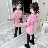 2019新款韩版儿童女孩毛衣女童秋装中长款洋气针织衫外套