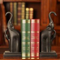 泰式母子象复古书档摆件简约现代家居创意乔迁礼品树脂工艺礼品 泰式母子象