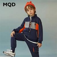 【折后券后预估价:245】MQD童装男童立领套装2020冬装新款儿童运动套装中大童长袖两件套
