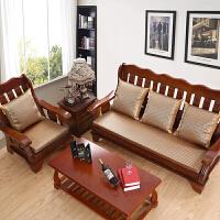 夏季实木沙发垫夏天冰藤凉席竹垫麻将防滑凉垫三人座海绵坐垫 定制