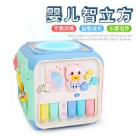 儿童玩具宝宝0-1-3岁2音乐玩具女孩小男孩智力婴幼儿早教玩具 多功能早教六面盒[马卡龙系]