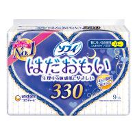日本进口苏菲温柔肌33cm纤巧夜用卫生巾 9片