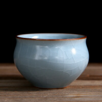【新品热卖】汝窑茶杯 陶瓷开片可养冰裂功夫茶杯 汝瓷品茗杯 普洱茶杯
