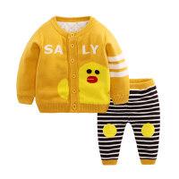 婴儿毛衣套装婴儿毛衣套装婴幼儿秋冬装加厚线衣宝宝针织毛衣开衫外套保暖棉衣MYZQ77