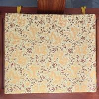 中式实木椅子垫海棉垫沙发坐垫厚防滑餐椅垫圈茶椅飘窗垫做定制定制 卡其色 三色金龙