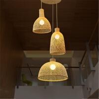{至为家居}创意新中式餐厅吊灯竹编禅意东南亚风格风格民宿包厢茶室装饰灯具