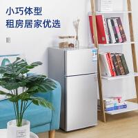 美菱雪小型家用迷你冰箱宿舍租房�p�T三�T冷藏冷�龉�能省��稳擞�