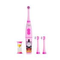 托马斯儿童电动牙刷软毛3-6-12岁小孩家用自动牙刷TC206男孩儿童宝宝玩具 粉红色