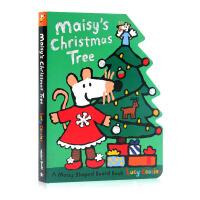 小鼠波波系列 圣诞节Maisy's Christmas Tree Board Book 英文原版绘本 儿童启蒙纸板图画