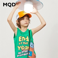 【2件3折:60】MQD男童童装2020夏季新款背心卡通无袖汗衫儿童休闲运动T恤中大童
