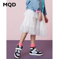 【2件3折:108】MQD童装女童网纱裙2020春装新款儿童中长款网纱裙子不规则裙百搭