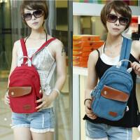 双肩包韩版休闲背包帆布包旅游包胸包多功能单肩挎包小包