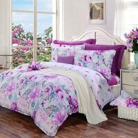 床单四件套女全棉纯棉床上用品学生被套1.8m床家纺定制