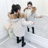 女童中大童洋气韩版中长款加厚棉衣2019新款棉袄冬装外套