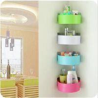 收纳架 浴室双吸盘扇形三角置物架卫生间转角无痕储物壁挂