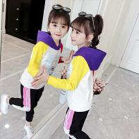 2019春秋季新款儿童小女孩洋气时髦两件套女童秋装卫衣套装