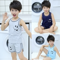 儿童家居服夏4-5周岁6岁半男童睡衣小男孩衣服背心套装