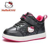 【4折价:111.6元】HELLO KITTY凯蒂猫童鞋女童棉鞋冬季新款儿童保暖户外鞋运动休闲鞋板鞋K8543820