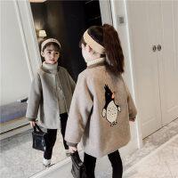 女童毛呢外套秋冬2018新款韩版童装男童儿童夹棉加厚呢子大衣洋气