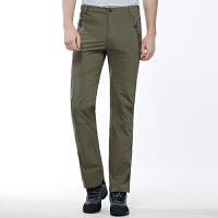 户外速干裤男宽松弹力直筒登山裤男士冲锋裤夏季薄款长裤