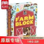 【预订】Farmblock 农场书 block系列儿童低幼绘本 动物认知翻翻书 0-3岁宝宝