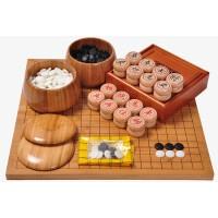 好吉森鹤/北京线上50元包邮//大号云子围棋套装/ 加大双面两用棋盘/50*48CM棋盘尺寸/碳化刻线棋盘/ 5.0象棋套装/围棋+象棋/竹木围棋罐-----------------1套+送品YY65903