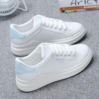 小白鞋女春季鞋子新款百搭韩版学生皮面休闲板鞋秋季平底单鞋