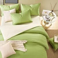 纯棉纯色四件套全棉简约素色床单被套酒店宾馆床上用品批发1.8m床 2.0床四件套 被套2.2*2.4