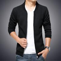 新款立领夹克外套男日系针织拼接潮流大码男士外套