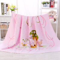 宝宝超柔吸水浴巾一面纱布一面竹纤维毛圈新生儿童毛巾被婴儿盖毯