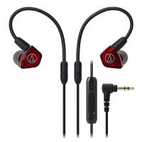 铁三角 LS200iS 两单元HIFI入耳式耳机 红色 线控耳麦 动铁监听