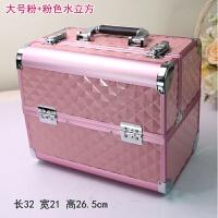 韩国大号手提化妆箱 多层美甲箱 带锁彩妆工具箱 化妆包