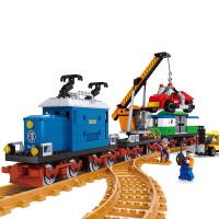 儿童奥斯尼颗粒火车拼装积木男孩拼插玩具学生积木礼物8-9-10-11-12岁 25709载车火车积木拼装