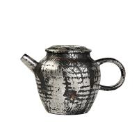 唐丰鎏银仿古茶壶陶瓷225ml泡茶壶带盖单壶家用水壶小巧礼盒装