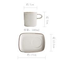 【新品热卖】日本万古烧复古窑变杯子 陶瓷咖啡杯粗陶水杯 早餐杯创意咖啡杯碟