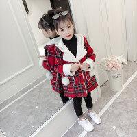 女童大衣女童秋冬装外套2018新款中大童洋气加厚儿童冬季加绒保暖加厚大衣MYZQ68
