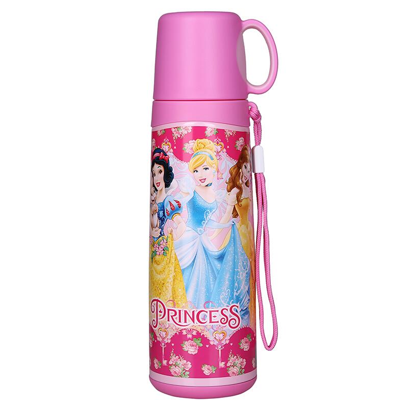 迪士尼(Disney)水杯 儿童保温水杯小学生不锈钢小口保温直饮杯500ml 便携式运动水壶出行杯