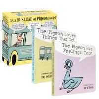 鸽子系列5本套装 Mo Willems经典作品Don't Let the Pigeon Drive the Bus!别让鸽子开巴士!The Pigeon finds a hot dog!