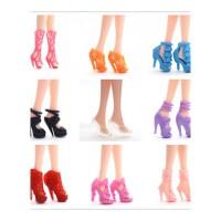 芭比娃娃的鞋子 公主水晶鞋巴比娃娃的衣服和鞋子 29 厘米