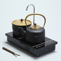 双炉电陶炉茶炉自动上水抽水嵌入式茶台桌茶盘铁壶非电磁茶炉茶具