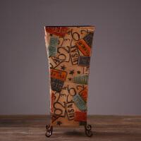 美式北欧装饰收纳伞桶 创意家居装饰品摆件设 服装店咖啡厅置物桶