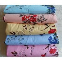 国民老上海老式床单斜纹印花双人床单定制 酒红色 250x250磨毛蓝色 250x250cm 磨毛床单