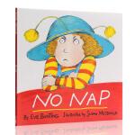英文原版绘本 No nap 汪培�E一阶段 图画绘本 美国进口儿童故事