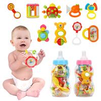 橙爱 大奶瓶摇铃牙胶 婴儿摇铃10件套组合装摇铃玩具