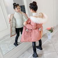 女孩中大童儿童加绒加厚外套2019新款韩版洋气女童冬装棉衣