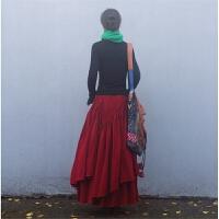 赤壁素心自制民族风长裙秋冬超长超大摆女装灯芯绒半身裙特价 2XL 100长