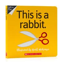 No way 系列:No Way!This Is A Rabbit 英文原版绘本 纸板翻翻书 儿童英语启蒙绘本 亲子共