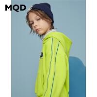 【2件3.5折券后价:148】MQD童装男童连帽卫衣2020冬装新款儿童图案卫衣中大童加厚潮上衣