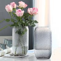 欧式玻璃花瓶大号透明水培简约创意摆件客厅鲜花玫瑰插花瓶干花器